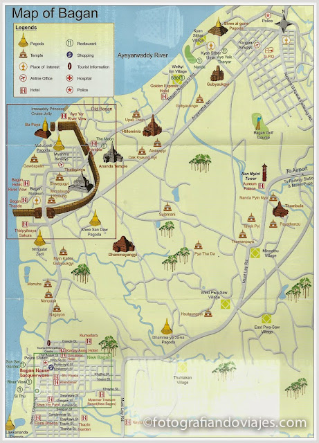 Mapa plano de Bagan