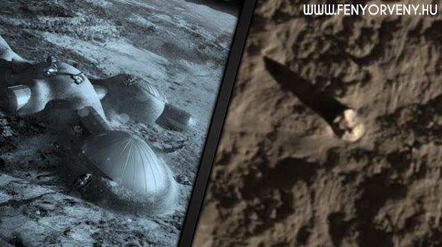 UFO-roncsok hevernek a Hold sötét oldalán