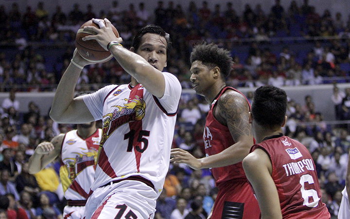 San Miguel floors Ginebra again, now just a win away from title