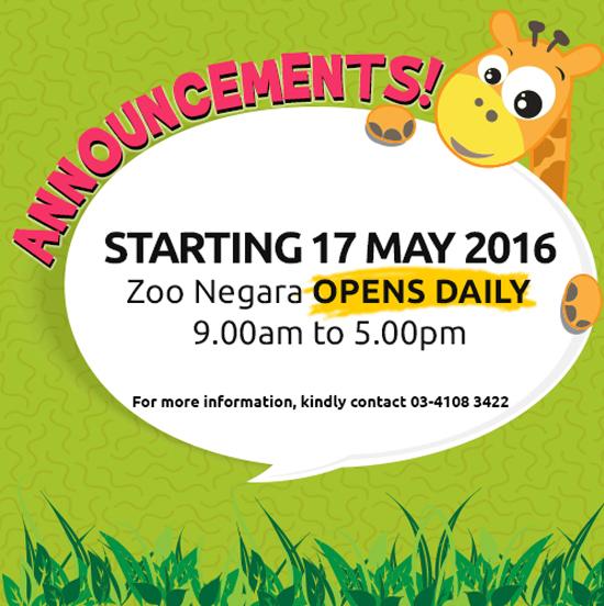 Promosi Zoo Negara Malaysia 2016