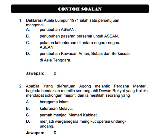 Contoh Soalan Peperiksaan Online Pembantu Tadbir Perkeranian Operasi Gred N17 Panduan Exam Spa Online