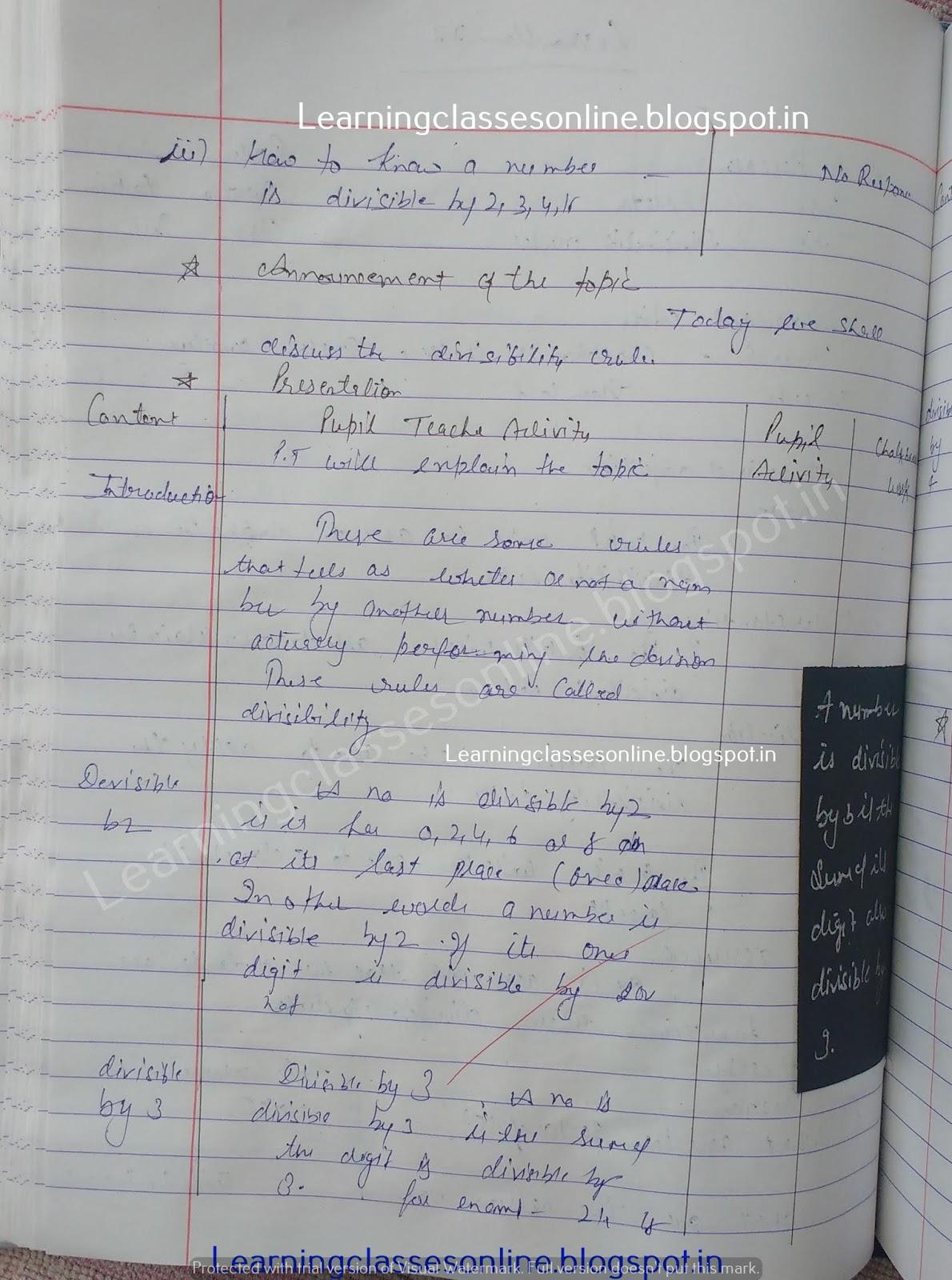 Sample Lesson Plan In Mathematics,