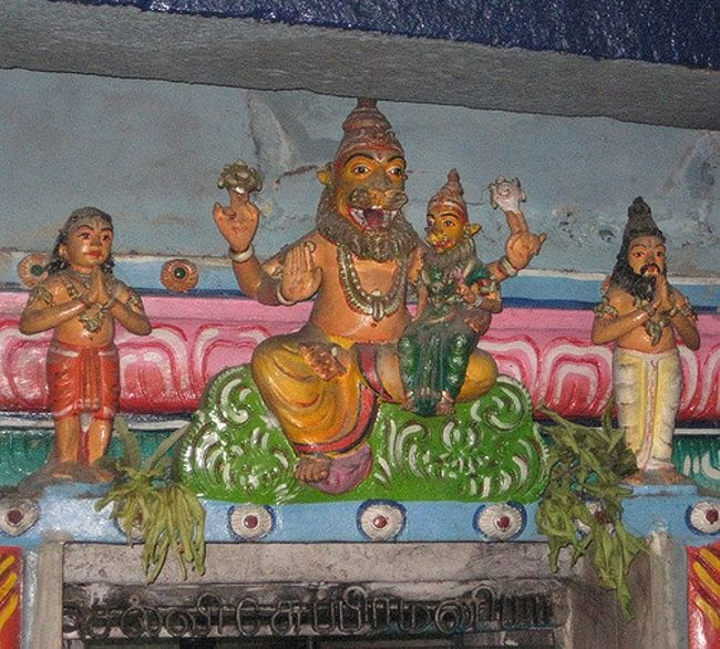 Sculpture Of Lord Narasimha Above The Entrance Of Garbhagriha