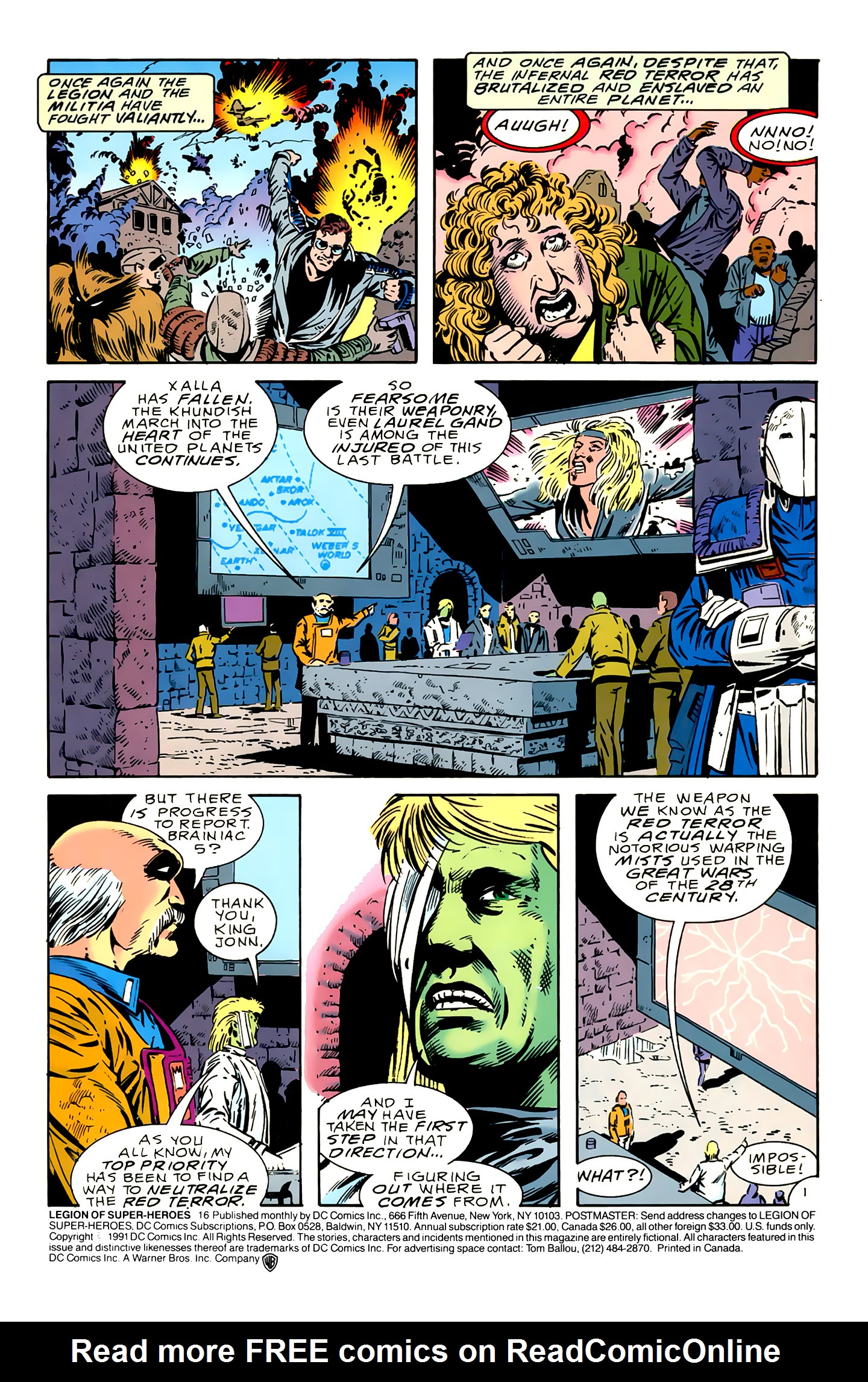 Legion of Super-Heroes (1989) 16 Page 1
