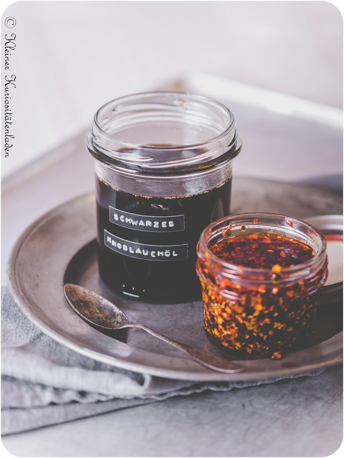 Schwarzes Knoblauch-Öl & Sichuan-Chili-Öl