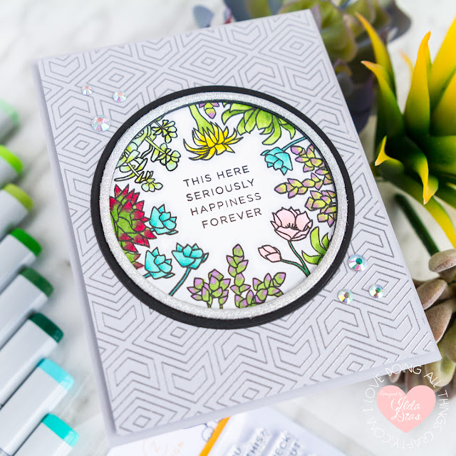 CZ Tabbed Sentiments Cards for Simon Says Stamp Friendly Frolic Release by ilovedoingallthingscrafty