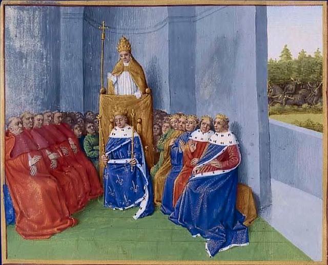 O Beato Papa Urbano II falando no concílio de Clermont-Ferrand