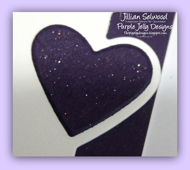 Wink of Stella, Elegant Eggplant cardstock heart