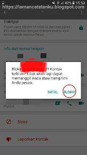 memblokir kontak whatsapp