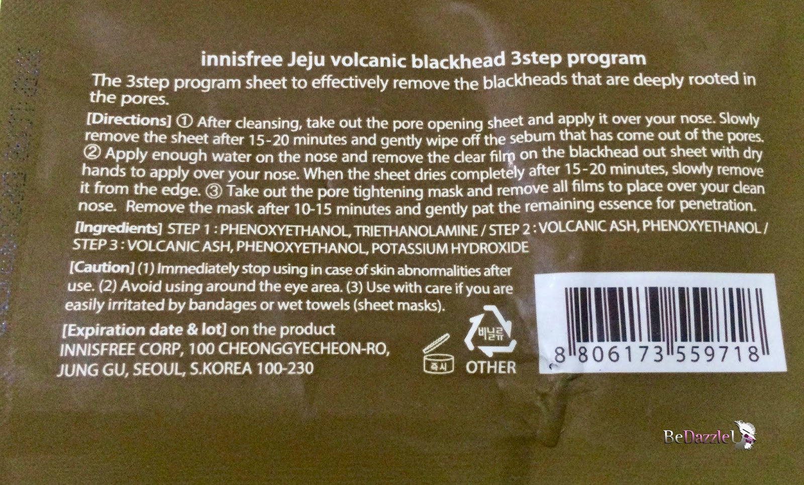 Innisfree jeju volcanic blackhead 3 step sheet review bedazzleu review sciox Choice Image