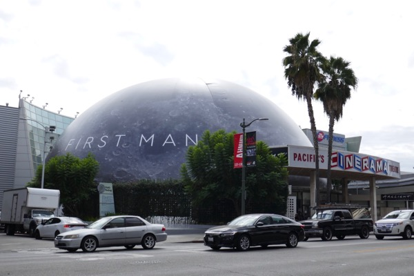 First Man Cinema Dome Moon wrap Hollywood
