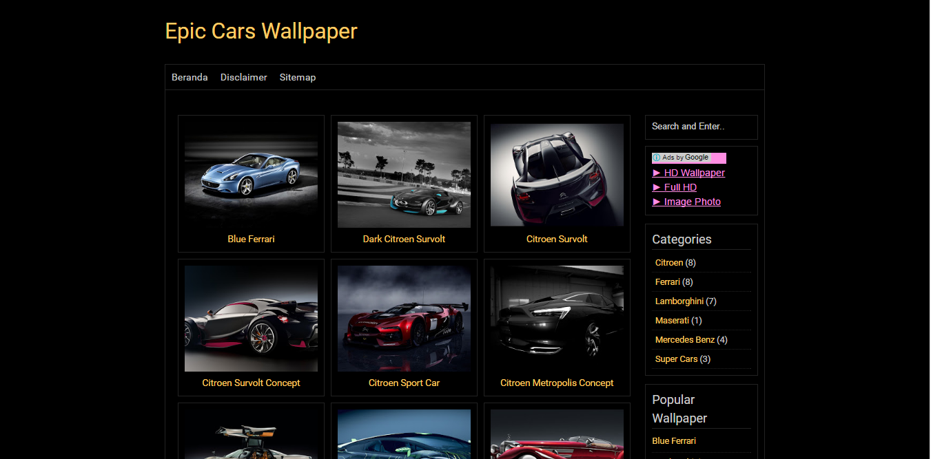 BlackPaper Wallpaper Template