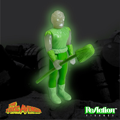 C2E2 2017 Exclusive Toxic Glow in the Dark Variant The Toxic Avenger ReAction Retro Action Figure by Super7
