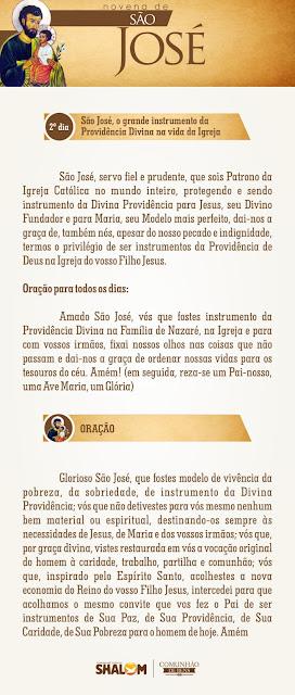 Novena de São José dia 2 - São José e a Divina Providência