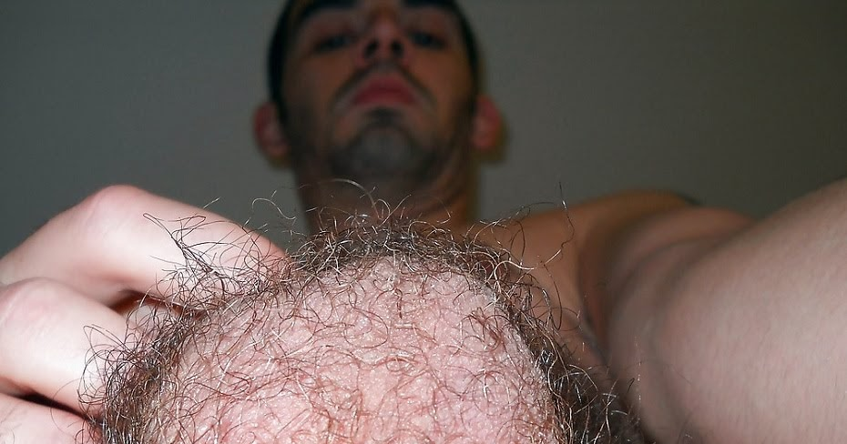 Hairy men with big balls