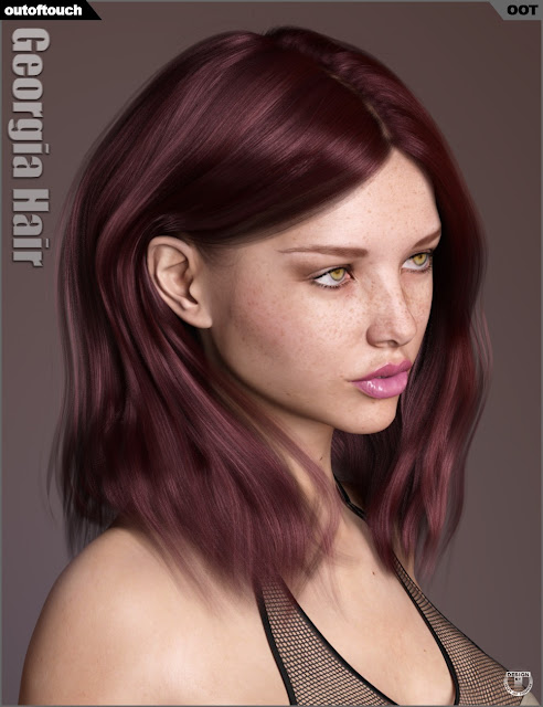 Georgia Hair and OOT Hairblending 2.0 for Genesis 3 Female