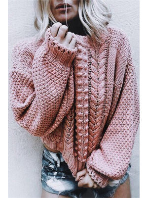 A Turtleneck Long-Sleeved Sweater