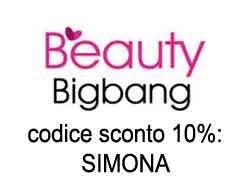 Codice sconto 10% su BeautyBigBang: SIMONA