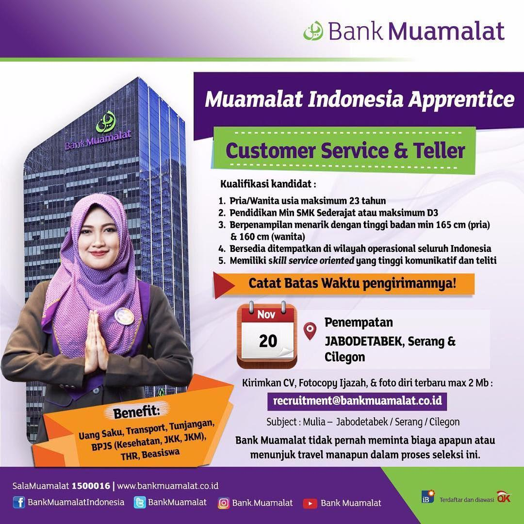 Lowongan Kerja Bank Muamalat November 2017