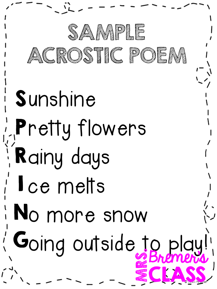 Mrs. Bremer's Class: April is National Poetry Month!