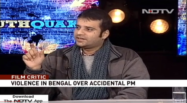 Live discussion on NDTV 24/7 revolving around The Accidental Prime Minister and Uri