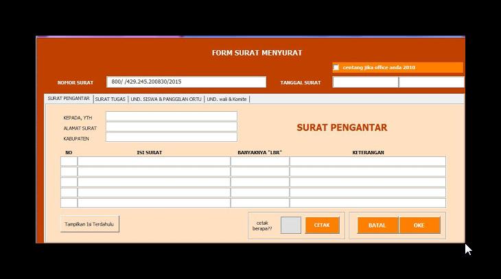 Download Aplikasi Surat Terbaru 2016 Format Excel   Info Guru