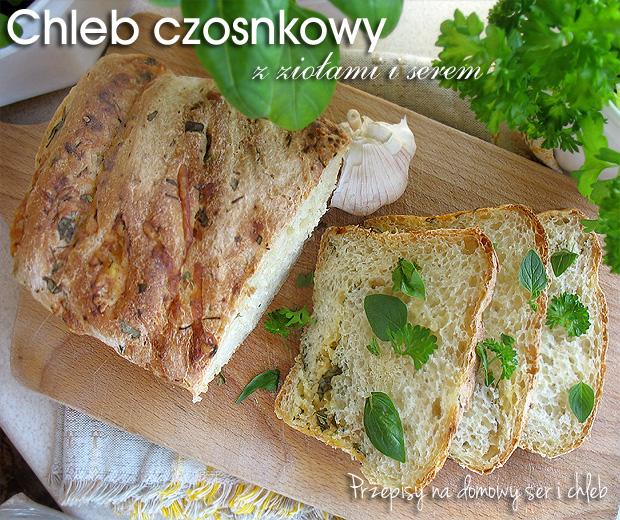 Chleb czosnkowy z ziołami i serem