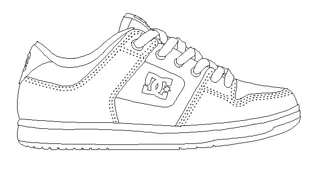 Tennis Shoe Coloring Pages