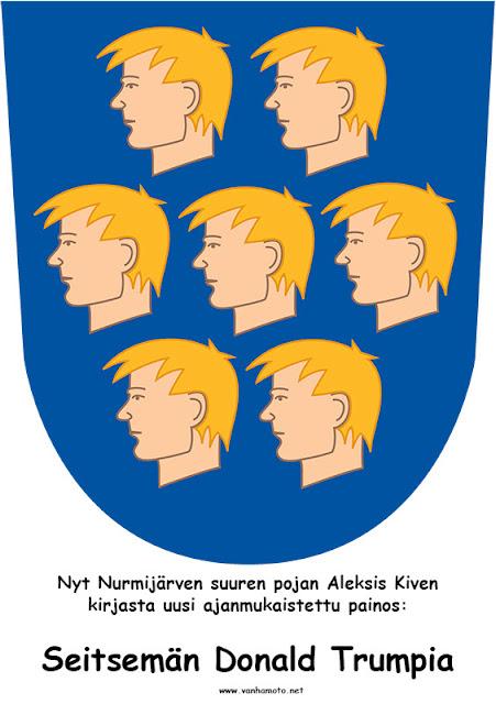 Nurmijärvi, Aleksis Kivi, Donald Trump Seitsemän veljestä