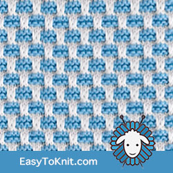 Slip Stitch Knitting 17: Gridlock | Easy to knit #knittingstitches #knittingpattern