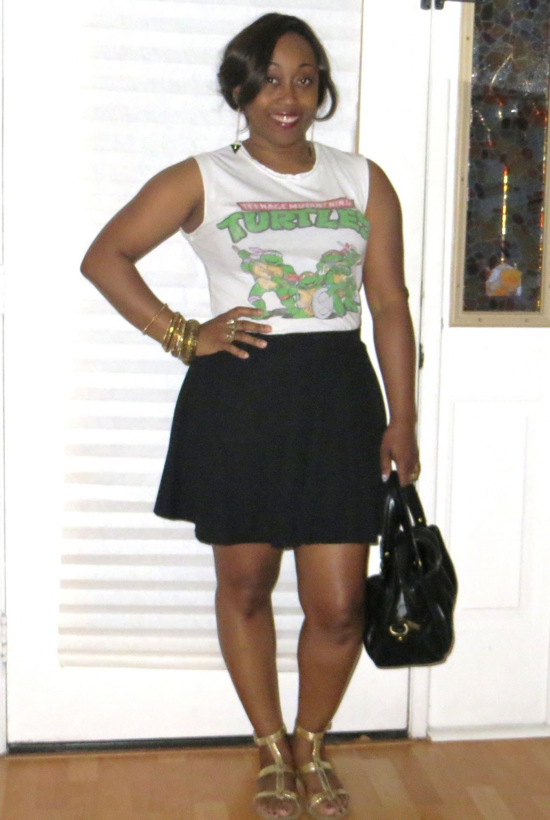 Outfit Turtles And Skater Skirt