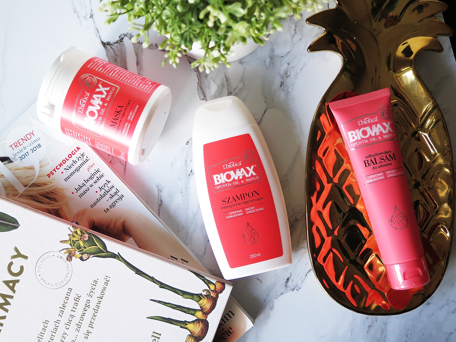 Włosy | L'biotica, Opuntia oil & Mango