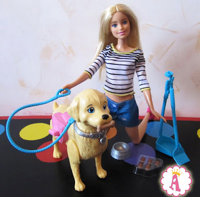 Собака куклы барби и шарнирная Barbie Walk and Potty Pup