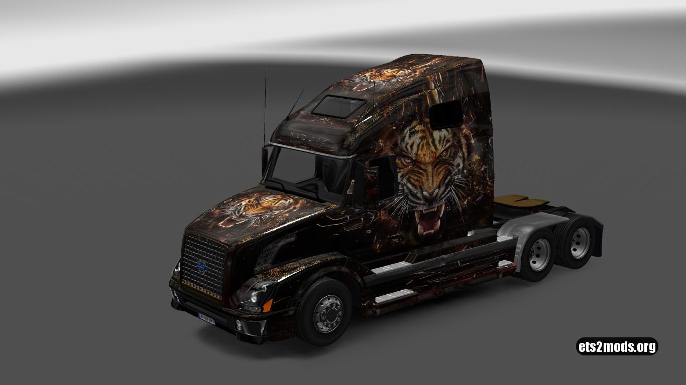 Burning Tiger Skin for Volvo VNL 670