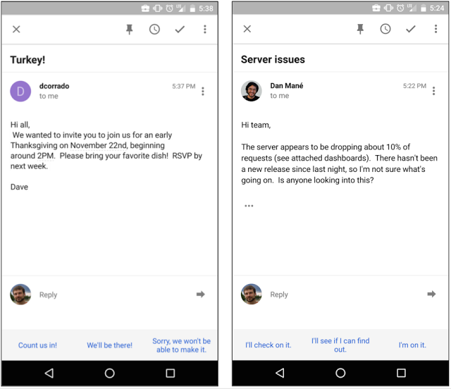 Gmail Smart Reply Feature 1