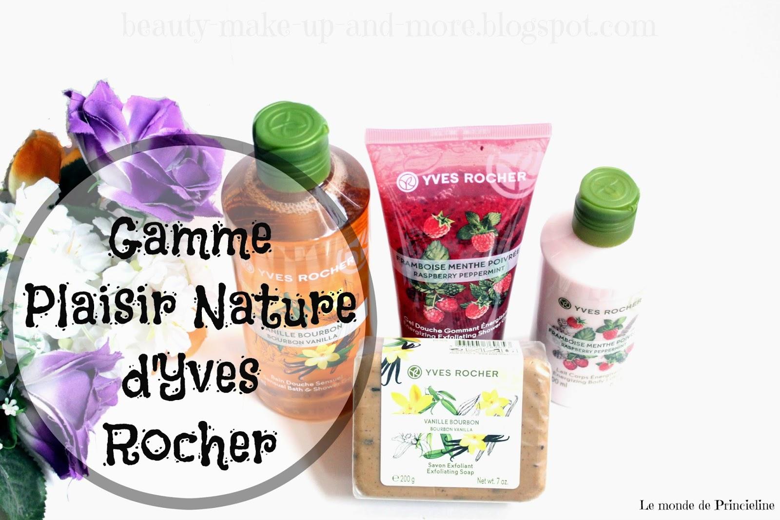 revue des produits plaisir nature d'Yves Rocher