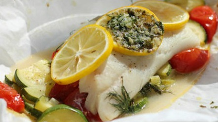 How to Make Halibut en Papillote with Zucchini and Tomatoes