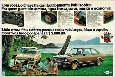 propaganda Chevette 1976, Chevette 76, GM anos 70, Chevrolet década de 70, carros Chevrolet anos 70, Oswaldo Hernandez, Chevette 76 pais tropical,