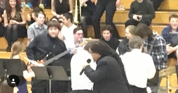 Mashpee Middle School Jazz Band Brings The Phunk with Mwalim