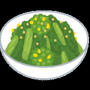 菜の花のからし和えのイラスト