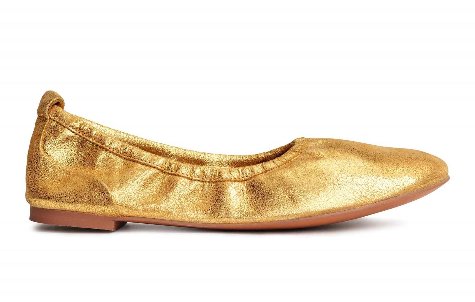 H&M złote balerinki Premium Quality