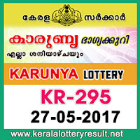 Karunya Lottery KR-295 Results 27-5-2017