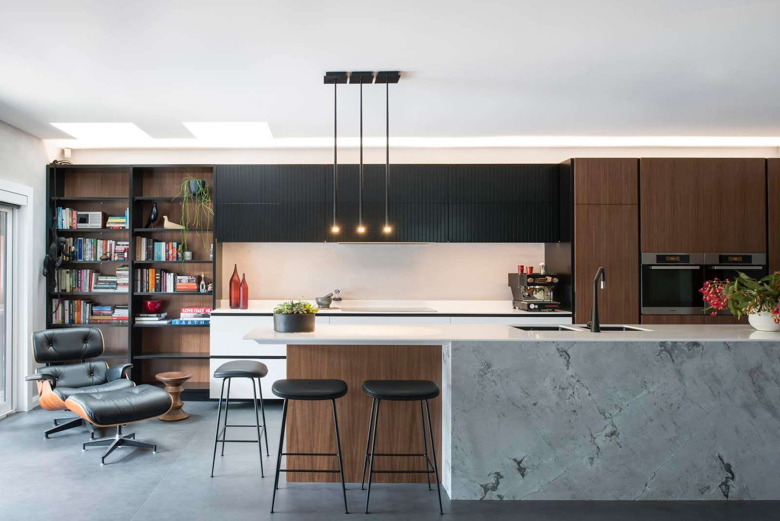 Modern Kitchen Design By Minosa Our Recent Willoughby Kitchen Design  Integrates The Living Room As One Space, Incorporating Dinning, Lounge,  Kitchen Reading ...