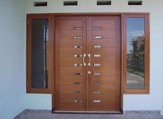 model pintu minimalis kayu jati