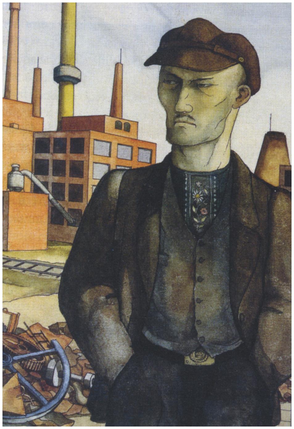 Quadro Desempregado, 1921, Otto Griebel