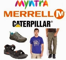 Flat 70% Off on MERRELL & CAT Men's / Women' Clothing, Footwear & Accessories @ Myntra