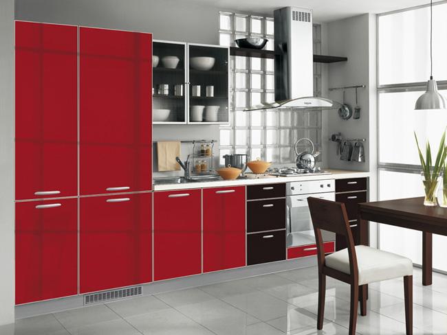 best 55 modular red kitchen designs cabinets walls color combinations 2019. Black Bedroom Furniture Sets. Home Design Ideas