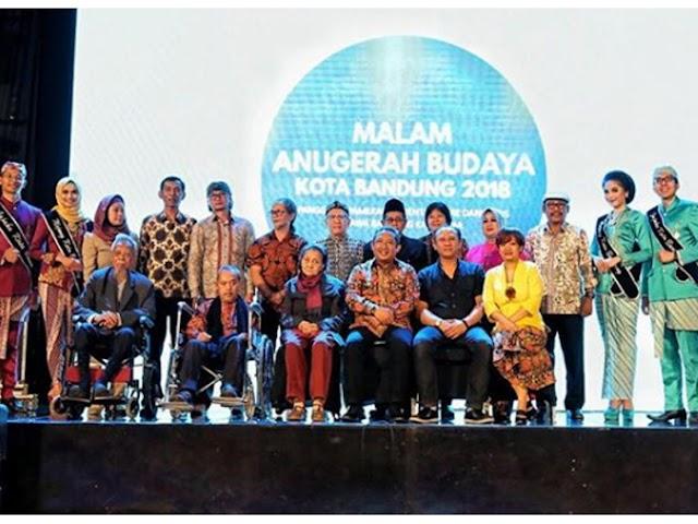 Inilah 10 Penerima Penghargaan Anugerah Budaya Kota Bandung 2018