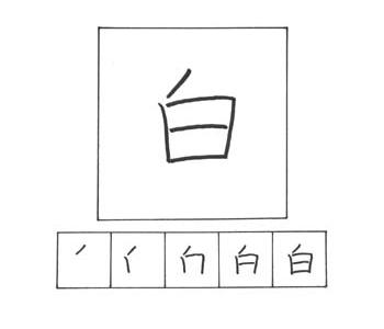 kanji putih