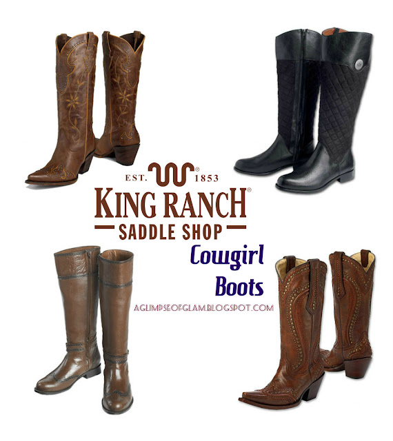 King Ranch Saddle Shop Cowgirl Boots - A Glimpse of Glam